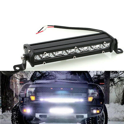 "7"" 18W Ultra Slim Single LED Light Bar fit for Work Offroad Car Driving 4WD SUV"