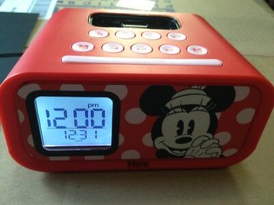 Minnie Mouse Am/Fm,Alarm & 30 Pin Docking Station Very