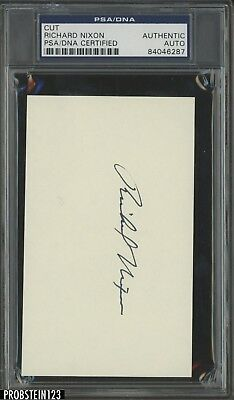 President Richard Nixon Signed Cut AUTO Autograph PSA/DNA Authentic