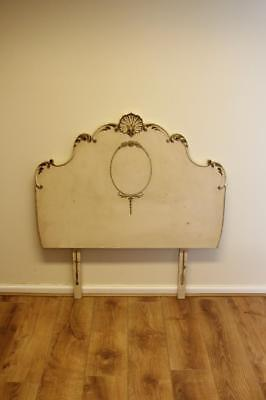 Vintage French Louis Style Shabby Chic Single Headboard
