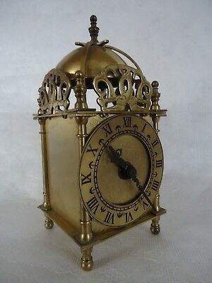 Vintage Brass Smiths Lantern Clock Quartz. Spares Or Repair