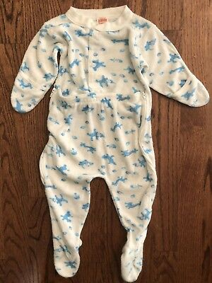 Vintage Spencer's Baby Infant One Piece Terry Cloth Footie Pajamas 3 Months