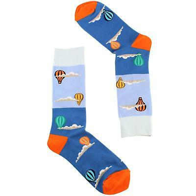 Men's Everday Novelty Hot Air Balloon CloudsTrouser Dressy Casual Comfy Socks