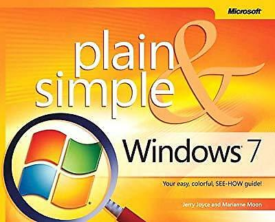 Windows� 7 Plain & Simple, Jerry Joyce & Marianne Moon, Used; Good Book