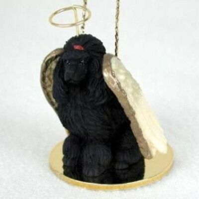 Small Angel POODLE BLACK Dog Breed Angel Christmas Holiday Ornament