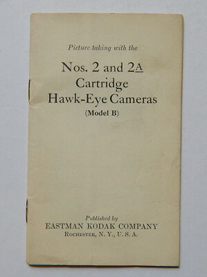 Picture Taking with Nos.2 & 2A Cartridge Hawkeye Cameras Model B (1920s)