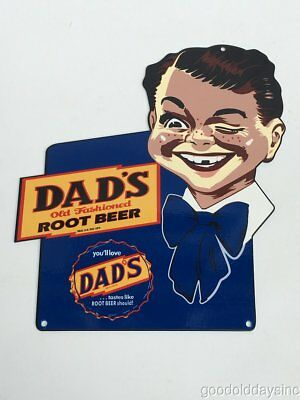 Small Dad's Root Beer Metal & Porcelain Advertising Sign