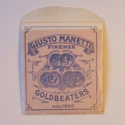 Vintage Giusto Manetti Italy 23 Karat Gold Leaf Partial Package 18 Sheets