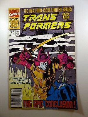 Transformers #80 Final Issue of Run!! Low Print Run! VG+ Ink on Cover!