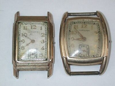 Hamilton Pair of Vintage Mechanical YGF Wristwatches. 54A