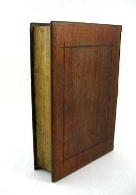 Antique Wooden Book Shape Box 2 Concealed Hidden Secret Drawers
