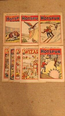 THE WIZARD ISSUES #s 1122,1134,1193,1234 - HOTSPUR #s 563,602,639,689 - FR-VG
