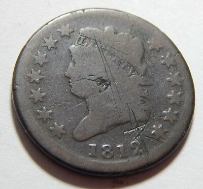1812 US Classic Head Copper Large Cent (small date) Better Date