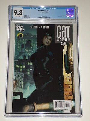 Catwoman 48 (Dec 2005) CGC 9.8 Adam Hughes Cover, Batman Appearance