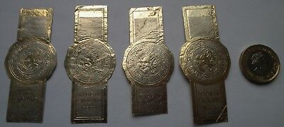 4 Very Rare Antique - Old Vintage St George Jam  English Made Jam Pot Labels