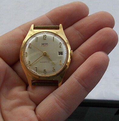 RARE Vintage Smiths 21 Jewels Wind Up Watch Wristwatch Working Collectible LOOK