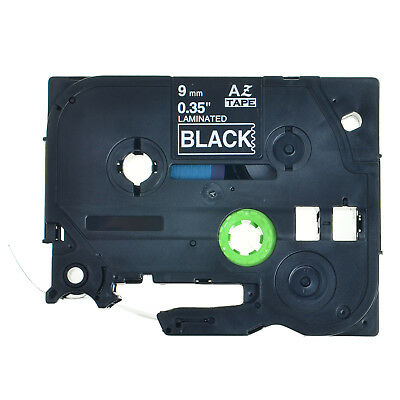 9mm White on Black Label Tape for Brother TZ 325 TZe 325 P-Touch PT-1100/2730