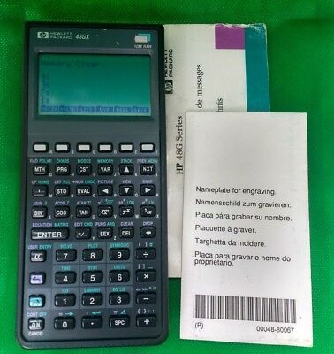 HP 48GX Programmable Expandable Graphing Calculator 128KB