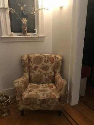 Vintage Wing Back Chair pasley/floral