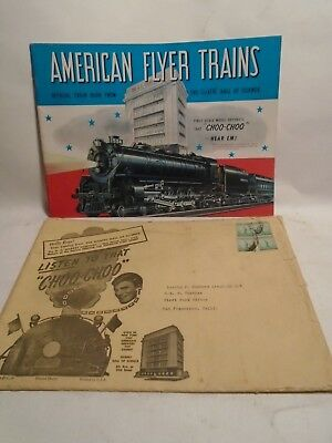 Original 1941 American Flyer Trains Catalog In Mint Condition With Mailing Envel