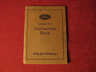 1931 Ford Model A AA Original Owner's manual Book operator's Instruction manual