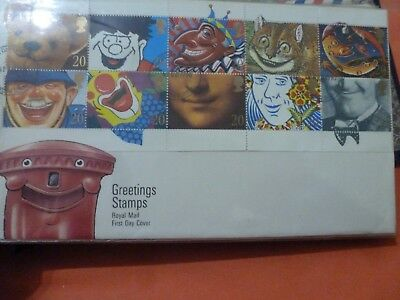 A Royal Mail First Day Cover Envelope With  Stamps - Greetings Stamps