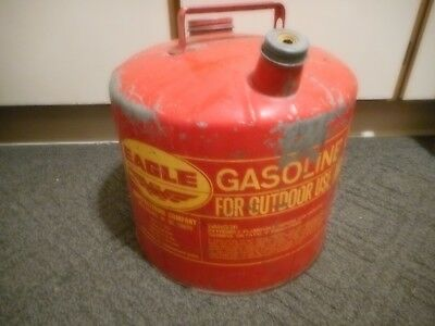 Vintage Metal Eagle 5 Gallon Vented Gas Can Model 505 *no spout*
