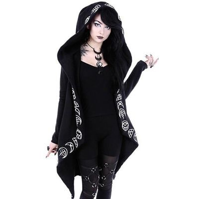 New Girls Gothic Casual Jacket Magic Witch Wizard Cosplay Hoodie Sweatshirt Coat