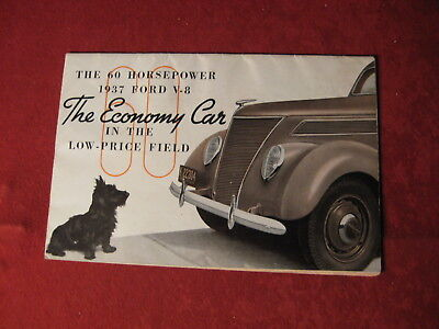 1937 Ford Old Original Sales Brochure Booklet Catalog Showroom Book