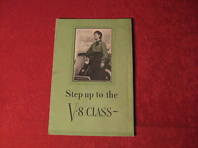1936 Ford Showroom Old Original Sales Brochure Booklet Catalog Book