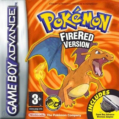 Nintendo GameBoy Advance - Pokemon Version Rouge Feu ANGLAIS cartouche utilisé