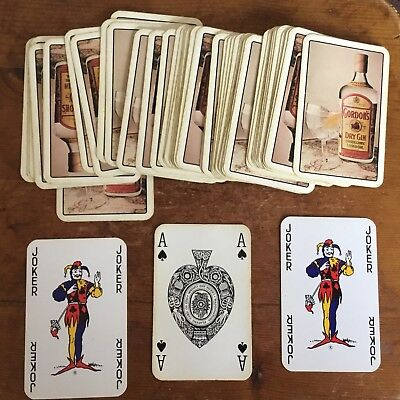VINTAGE 1990's BREWERIANA ADVERTISING PLAYING CARDS - GORDON'S DRY GIN ~ £1.95