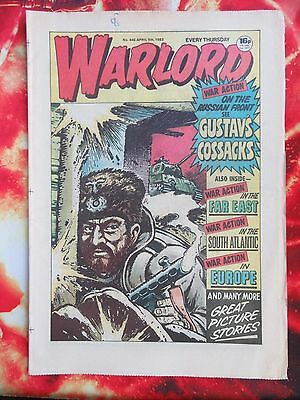Warlord Comic 9 April1983. No. 446 Vfn+. Unsold/unread Newsagents Stock