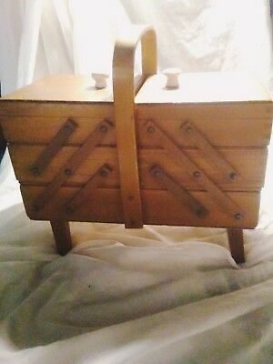 Antique Accordian Sewing Box