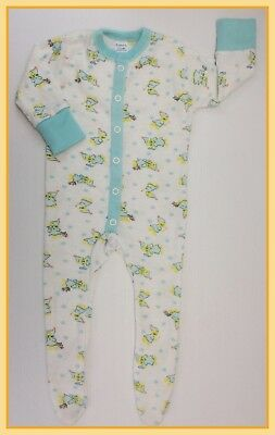 🔴 80's Vintage Curity Brand Unisex Cat Pattern One-Piece Pajamas Sleeper 6-12M