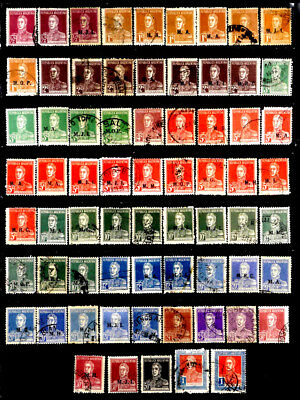 Argentina: 1923-4 Classic Stamp Collection With Official Department Overprints