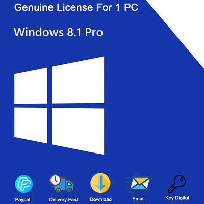 Windows 8.1 Professional 32-64bit For 1 PC Genuine License