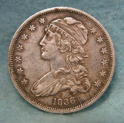 1836 CAPPED BUST SILVER QUARTER CHOICE XF ~ Die Cracks Obverse * US Coin