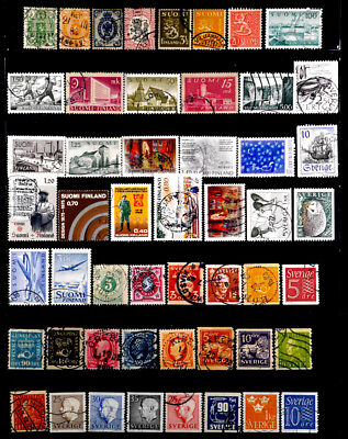 Finland, Sweden: Classic Era To 70's Stamp Collection