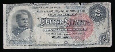 SCARCE 1886 LARGE SIZE $2 SILVER CERTIFICATE * US  Paper Money
