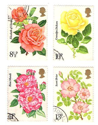GB Stamps SG1006-1009 1976 Centenary of Royal National Rose Society