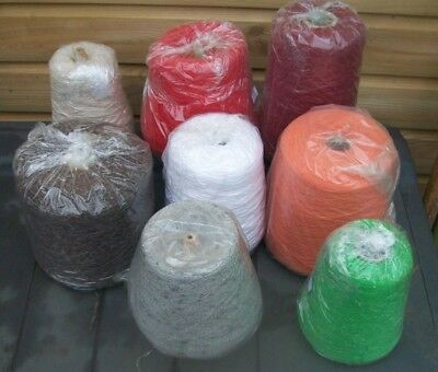 job lot 8 cones of machine hand knit crochet yarn mix shades weights makers plys