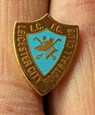Leicester City Old Retro Brown-Sky Blue Crest Enamel Pin Badge