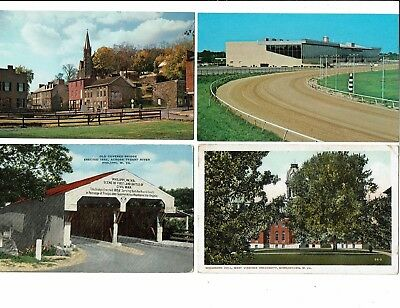 4 Card West Virginia Lot, Covered Bridge, Harpers Ferry, Race Track, University!