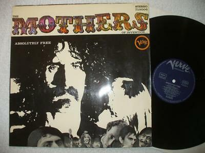"MOTHERS OF INVENTION ""ABSOLUTELY FREE"" 1967 GER ORIG. 1st PRESS VERVE PLAYS M--"