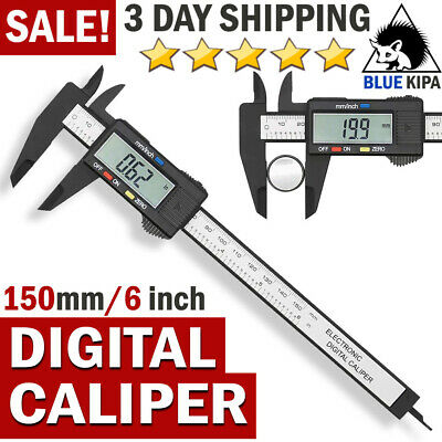 Stainless Steel Digital Caliper Vernier Micrometer Electronic Ruler Gauge Meter