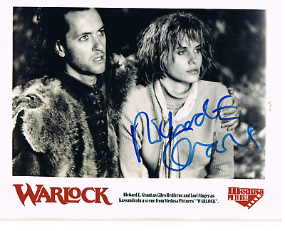 """RICHARD E GRANT-As Giles Redferne with Lori Singer- """"Warlock""""-Signed 8 x 10 Pic"""