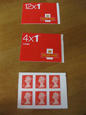 NEW ROYAL MAIL STAMPS FIRST 1st Class Letter & Large Letter Books FREE FAST POST