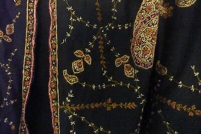 Antique Hand Embroidered Victorian Shawl