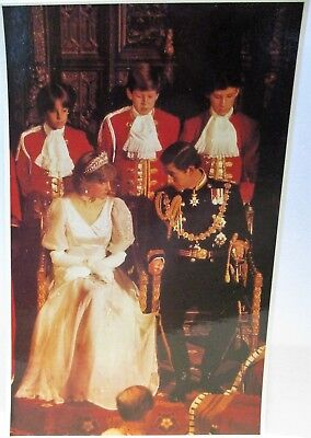 1981 Postcard Princess Diana & Charles,state Opening Of Parliament